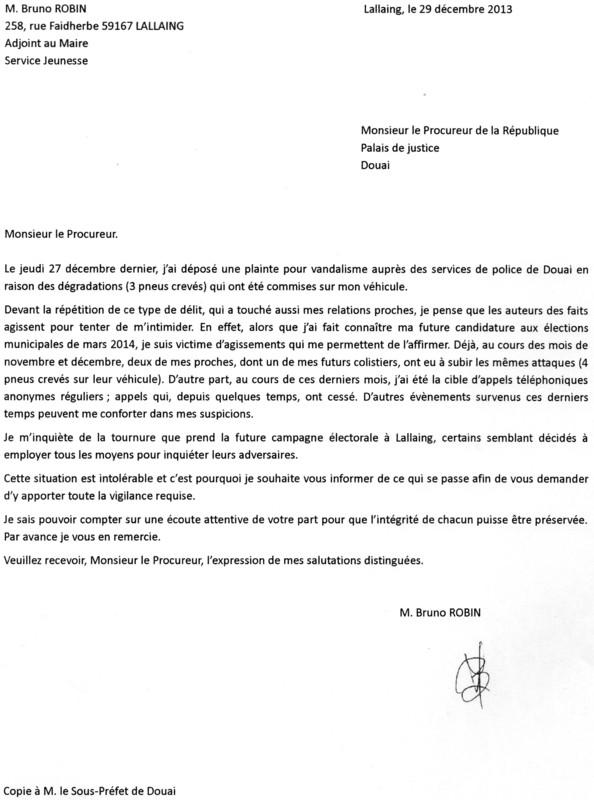 Lettre au procureur - Lettre au procureur pour plainte ...